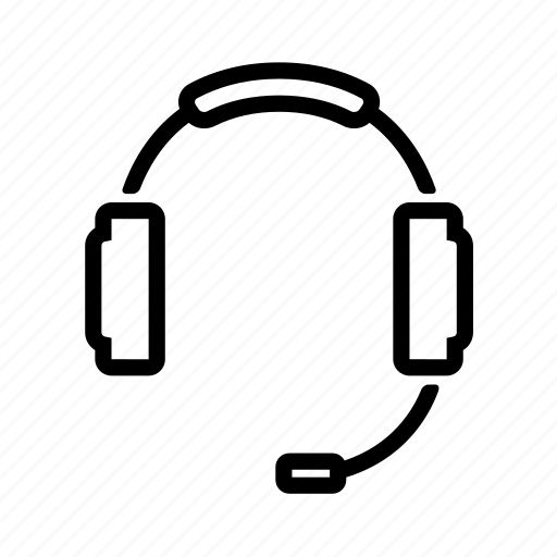 communications, computer, headphones, support icon