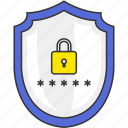 lock, password, protection, safe, security, shield, sign in icon