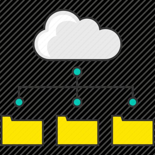 cloud computing, data, internet, network, server, share, wifi icon