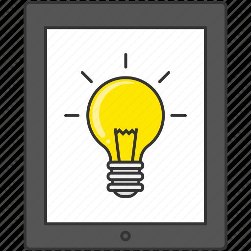 bulb, idea, lamp, light, pc, smart phone, tablet icon