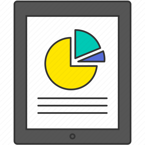 business, chart, graph, pc, smart phone, tablet icon