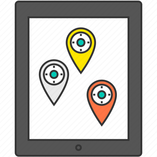 gps, map, marker, navigation, pc, pin, tablet icon