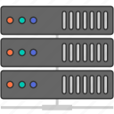 data, data center, hosting, network, server, storage icon