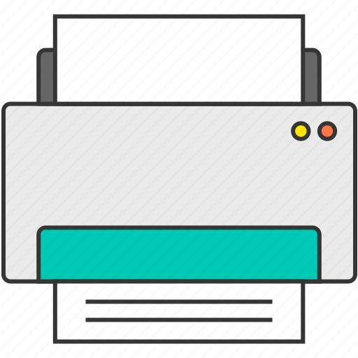 device, fax, office, paper, print, printer icon