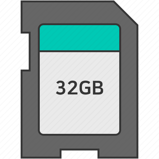 data, memory, memory card, sd memory icon