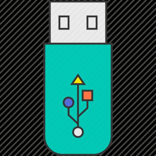 data, flash, memory, storage, usb, usb stick icon