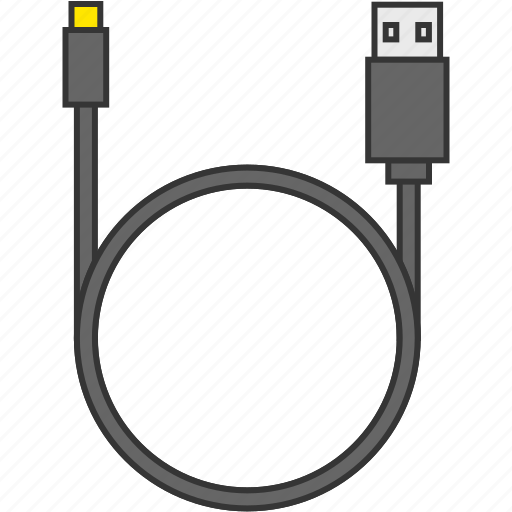cable, connecter, data, usb cable, wire icon