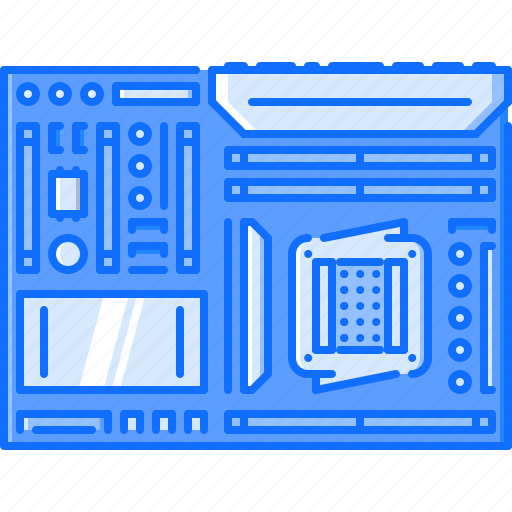board, computer, data, information, motherboard, technology icon