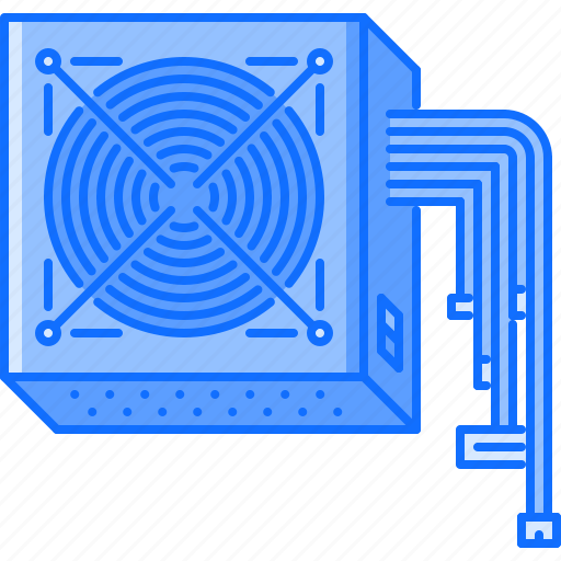 computer, data, information, power, supply, technology icon