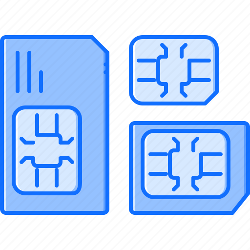 card, computer, data, information, sim, technology icon