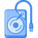 computer, data, disk, external, hard, information, technology icon