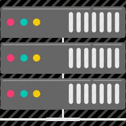 computer, data, server, storage icon