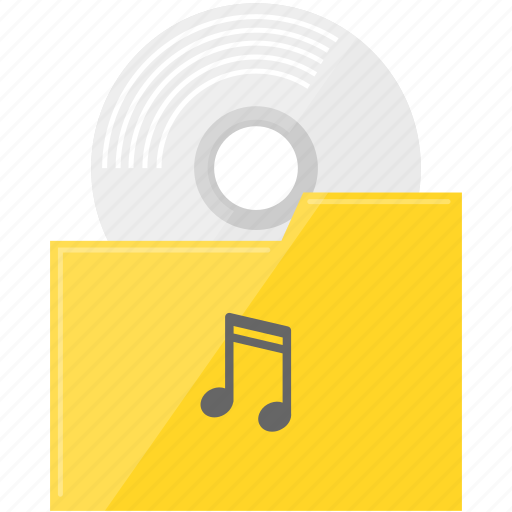 cd, file, folder, music, song icon