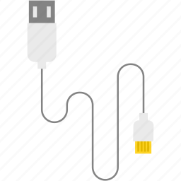 cable, connect, device, usb, usb line icon