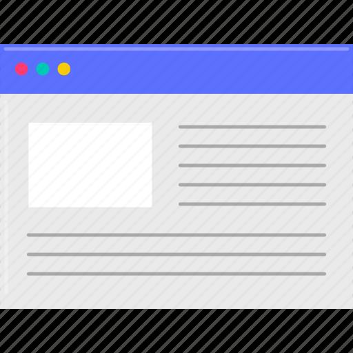 file, internet, web, word processor icon