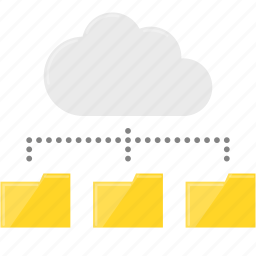 cloud computing, data, file, server, synchronization icon