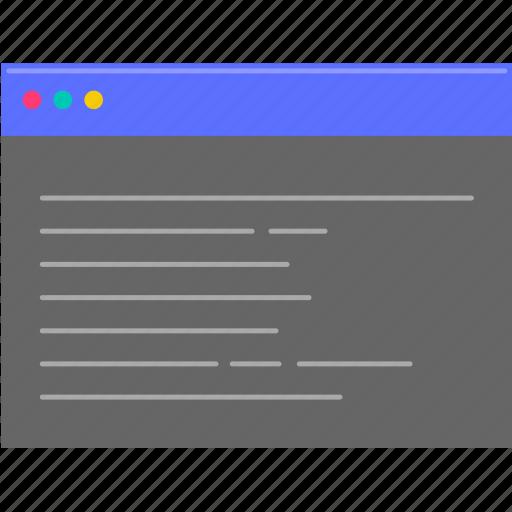 computer, dos, programming icon