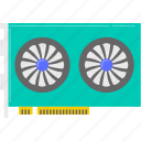 computer, graphic card, hardware icon