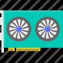computer, graphic card, hardware icon