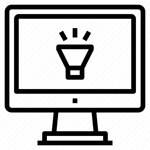 computer, interface, lighting, technology icon