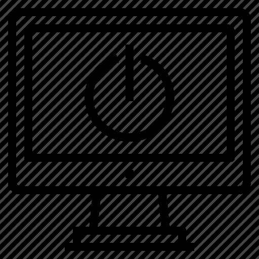 computer, interface, power, shutdown, technology icon