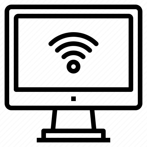 computer, interface, technology, wifi, wireless icon