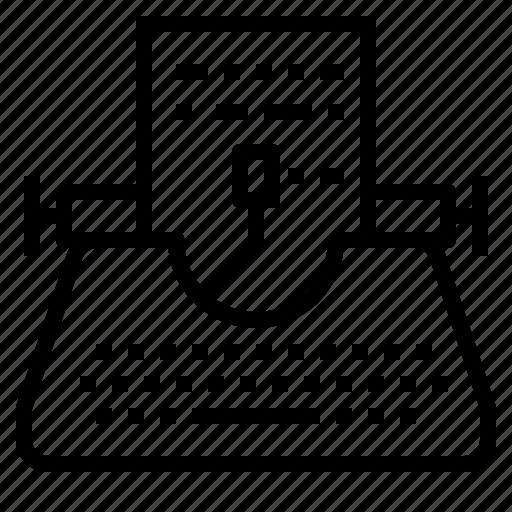 Paper, writer, typewriter, copyright, writing icon