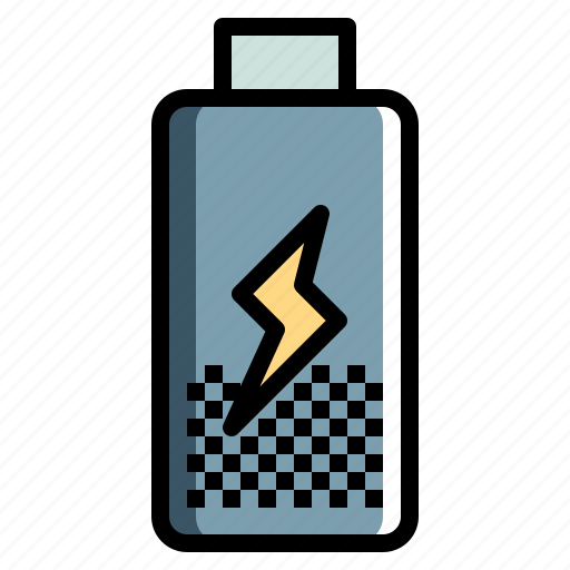 Battery, electronics, level, status, technology icon - Download on Iconfinder
