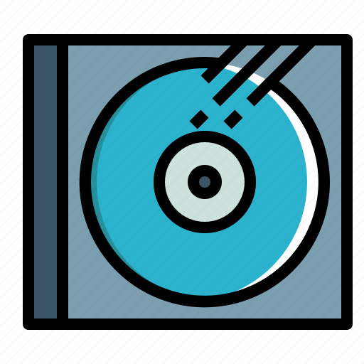 audio, cd, disc, dvd, media, music, ray icon
