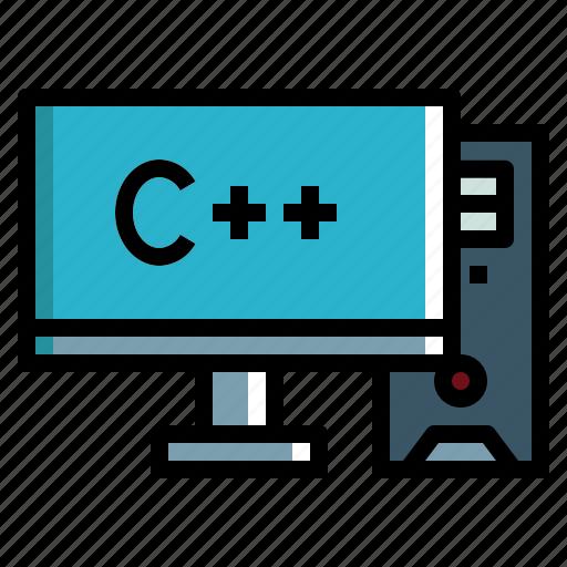 Personal, screen, computer, monitor, desktop icon