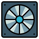 air, conditioner, cooler, cooling, fan, hot icon