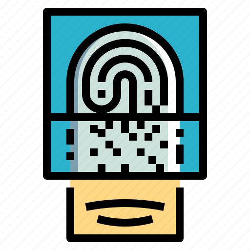finger, fingerprint, identification, scan, security icon