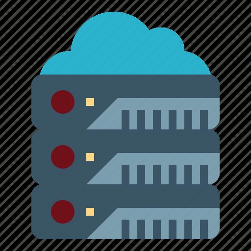 database, hosting, network, servers, storage icon