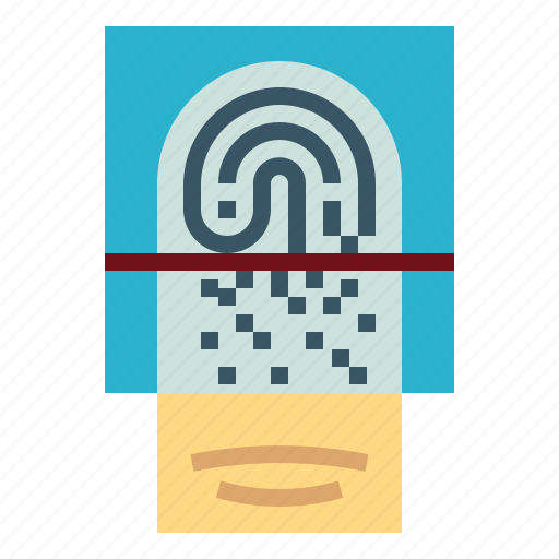 Security, fingerprint, identification, finger, scan icon