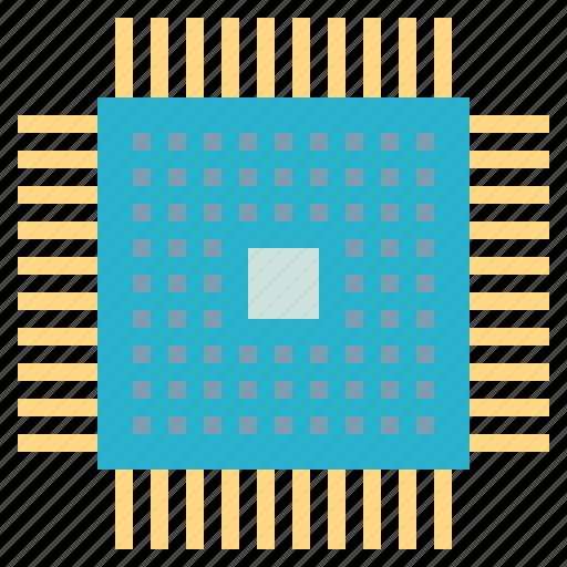 chip, cpu, hardware, microprocessor, processor icon
