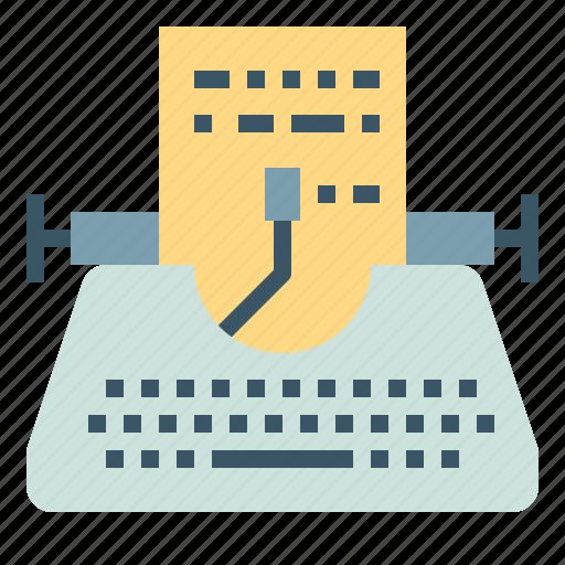 copyright, paper, typewriter, writer, writing icon