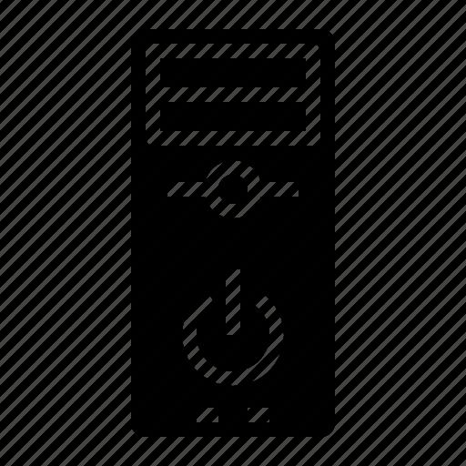 case, computer, cpu, server, tower icon