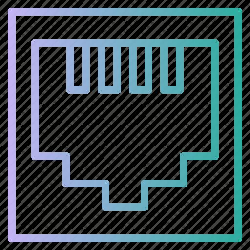 cable, lan, network, plug, port icon