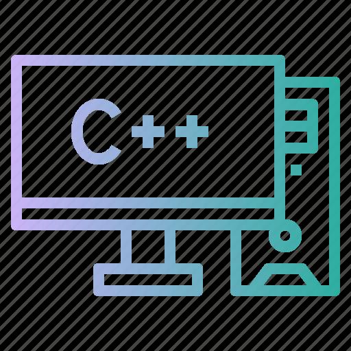 computer, desktop, monitor, personal, screen icon