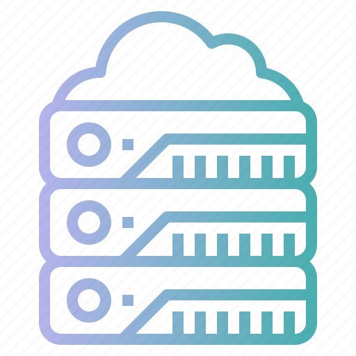 database, hosting, network, servers, storage icon