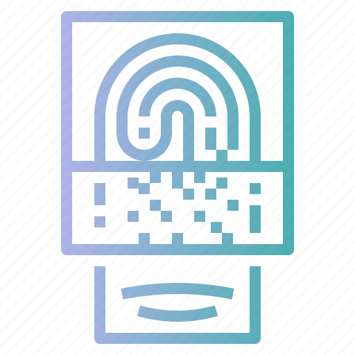 finger, fingerprint, identification, scan, security icon
