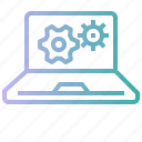 computer, digital, laptop, notebook, tool icon