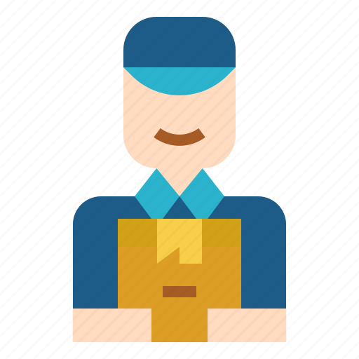 delivery, man, postman, service, shipping icon