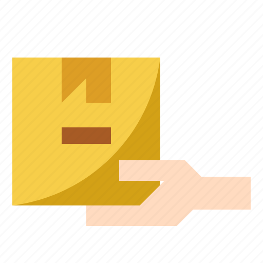 delivery, goods, package, receive, shipping icon