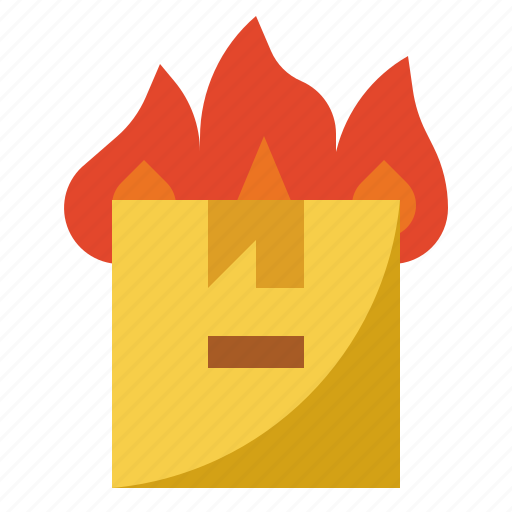 Box, burn, fire, insurance, shipping, transit icon - Download on Iconfinder