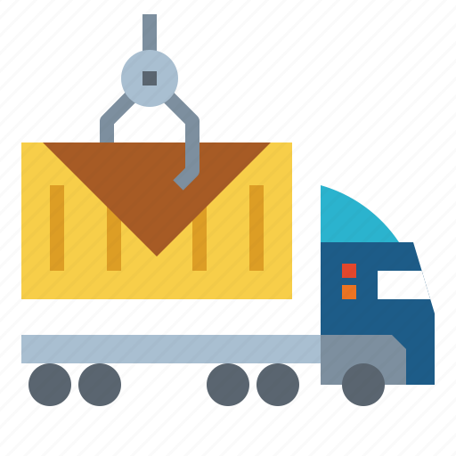 Container, delivery, fast, shipping, truck icon - Download on Iconfinder