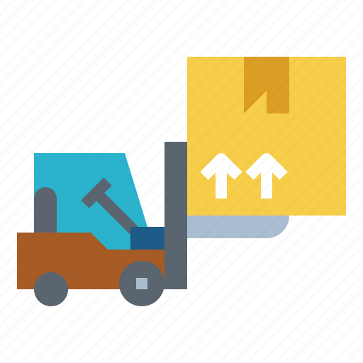 forklift, industry, logistic, shipping, warehouse icon