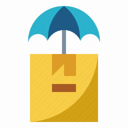 box, insurance, package, safety, umbrella icon