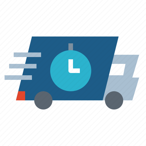 Delivery, shopping, transportation, truck, fast icon