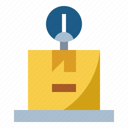 delivery, scale, shipping, size, weight icon